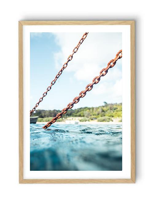 Boat Mooring Flinders Pier, Print