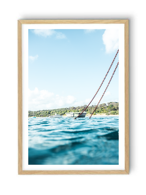 Floating at Flinders Pier, Print