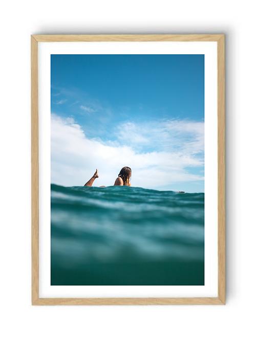 Ocean Girl Split Shot, Print