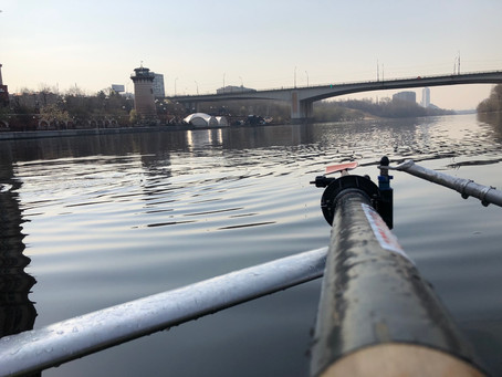 First training on the water in 2019