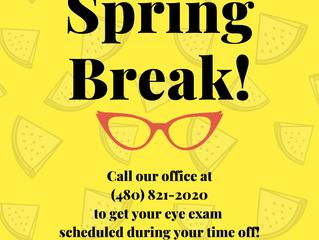 Reminder: Spring Break hours!