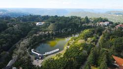 Vista aérea do Lago Negro