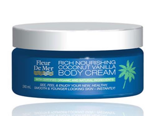 Rich Nourishing Coconut Vanilla Body Cream 240ml