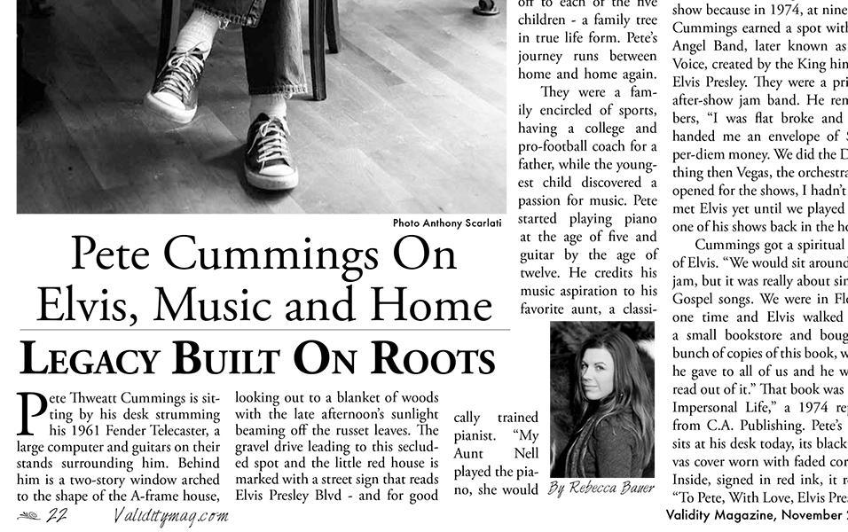 Story: Pete Cummings On Elvis, Music & Home