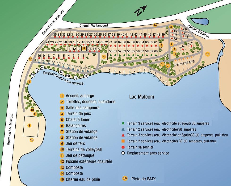 Nouveau plan du camping 2020 AVEC BMX 2.