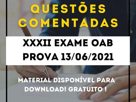 XXXII EXAME OAB – PROVA 13/06/2021