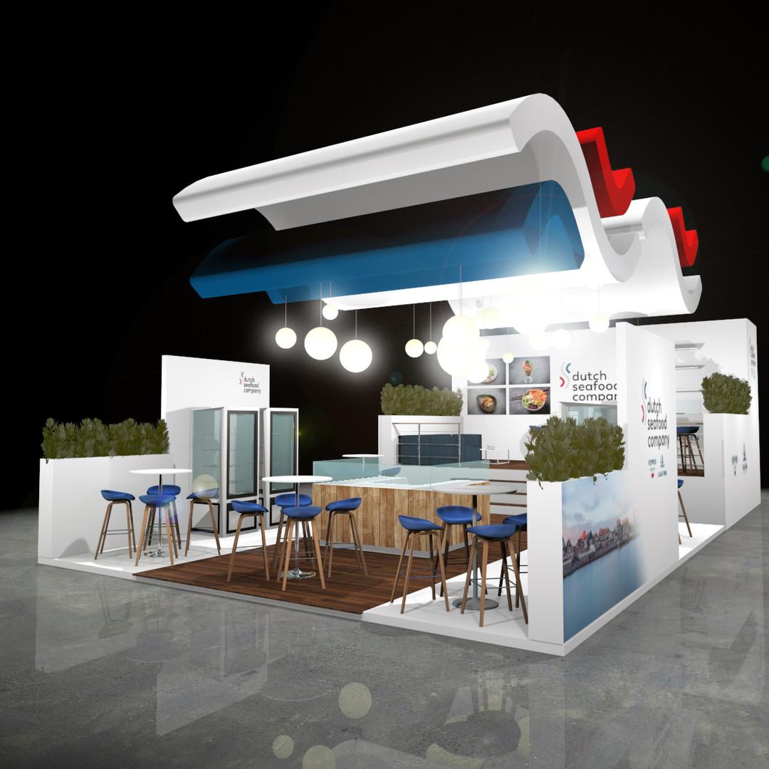 Standontwerp Dutch Seafood Company Brussel