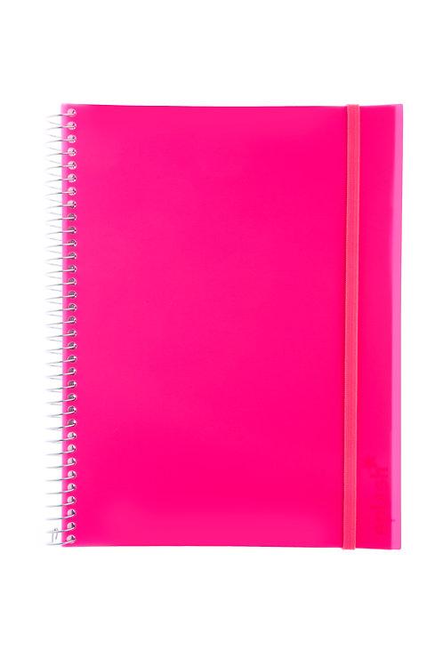 Caderno Universitário 10 matérias 200fls - Splash Rosa