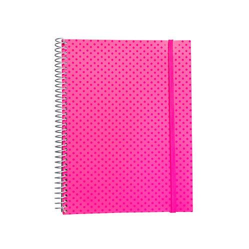 Caderno Universitário 10 matérias 200fls - Círculos Rosa