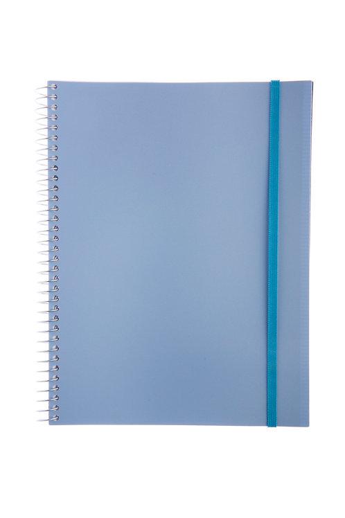 Caderno Universitário 1 matéria 96fls - Cós Azul Claro