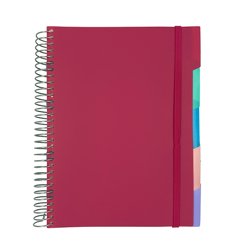 Caderno Divisória Hipster (6 divisórias removíveis)