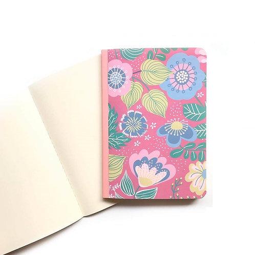 Caderno Flex 1/4 70fls - Flores