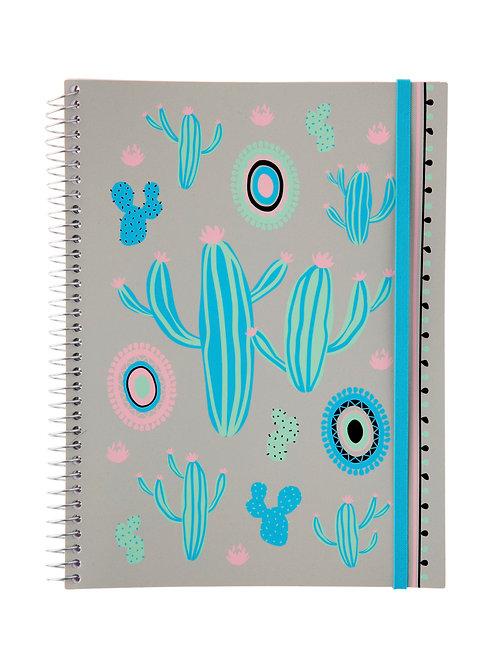 Caderno Universitário 10 matérias 200fls - Zoo Cactos