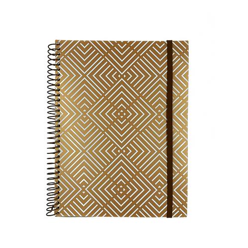 Caderno Universitário Ouro