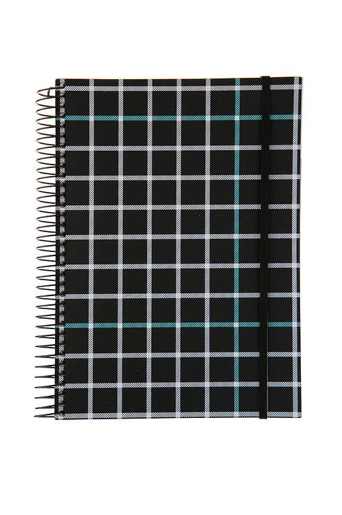 Caderno Universitário 1 matéria 96fls - P&B Quadriculado