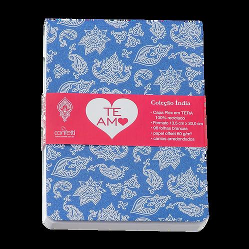 Caderno Flex médio 80fls - Índia Azul