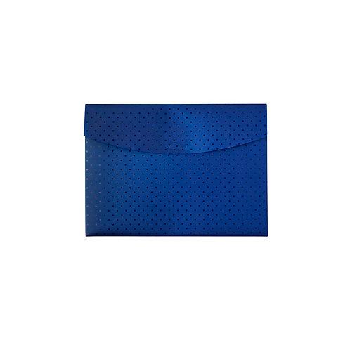 Pasta Envelope A4 - Círculos Azul