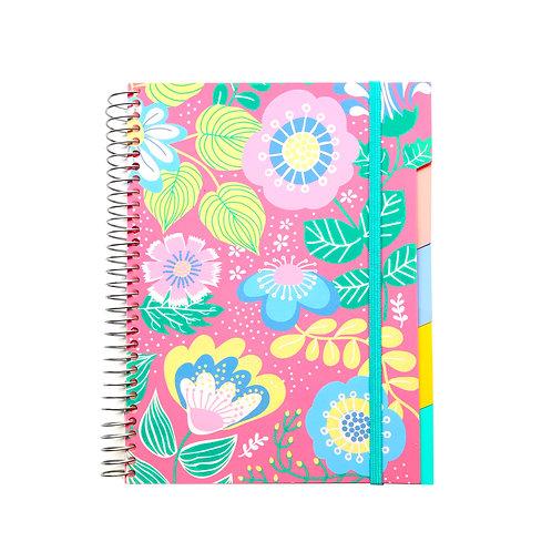 Caderno Médio com divisórias 192fls - Flores