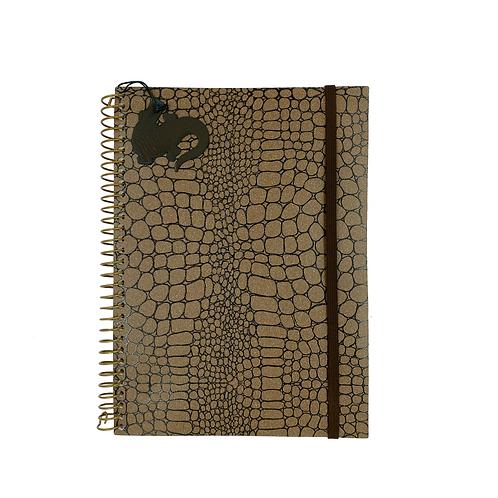 Caderno Médio Croco