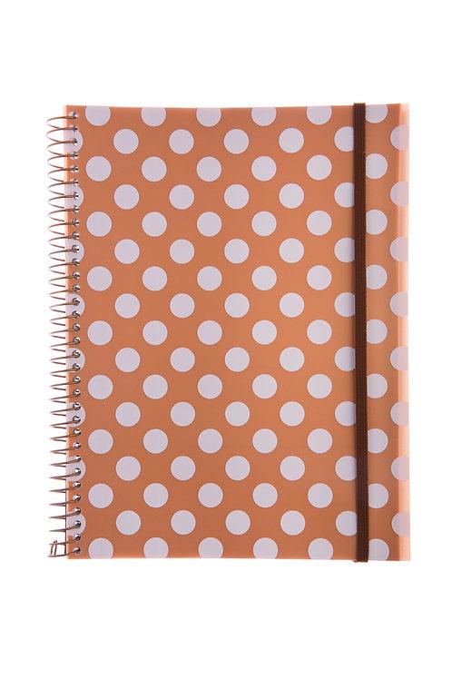 Caderno Universitário 1 matéria 96fls - Ouro Bolas Branco