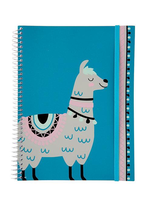 Caderno Universitário 10 matérias 200fls - Zoo Lhama