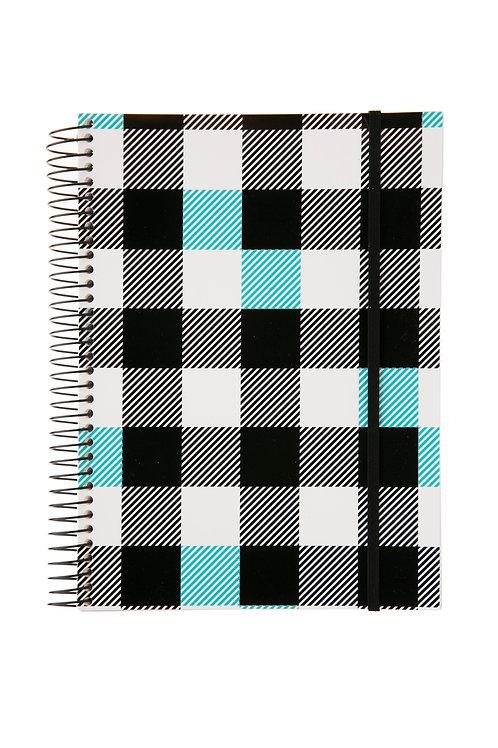 Caderno Universitário 1 matéria 96fls - P&B Xadrez