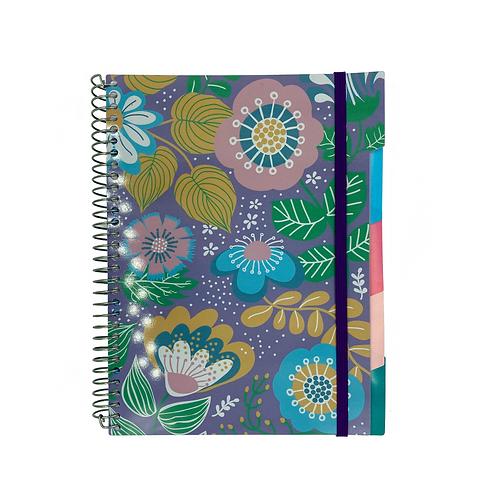 Caderno Divisórias Flores (6 divisórias removíveis)