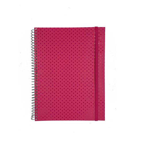 Caderno Universitário Circle Rosa