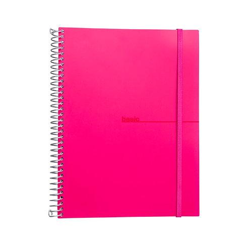 Caderno Universitário 10 matérias 200fls - Basic Rosa