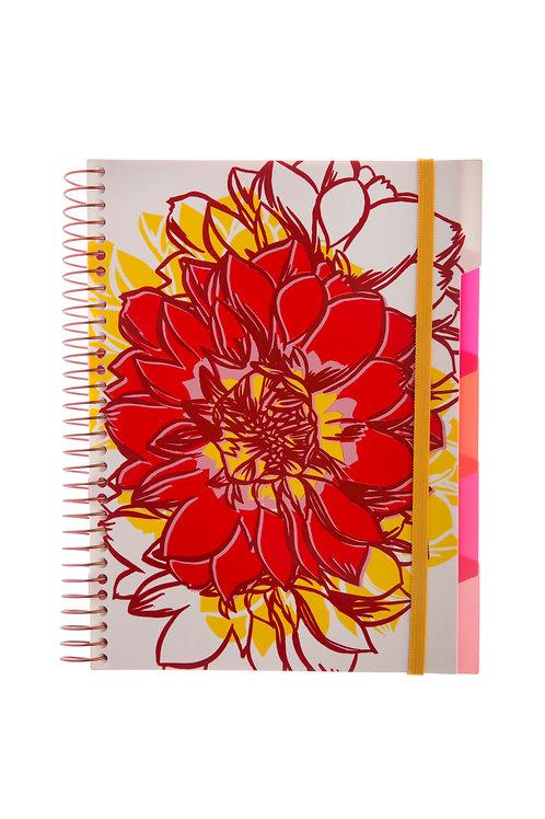 Caderno Com Divisória MaxiFloral