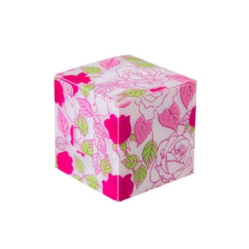 Cubo de anotações com 750 fls - Estampado flor rosa