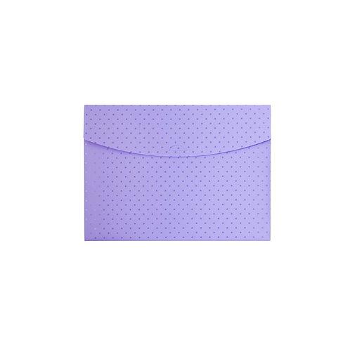 Pasta Envelope A4 - Círculos Lilás