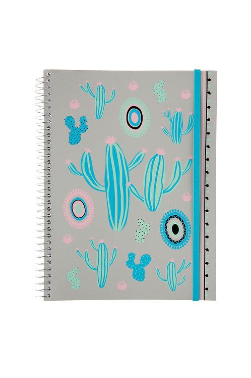 Caderno Universitário 1 matéria 96fls - Zoo Cactos