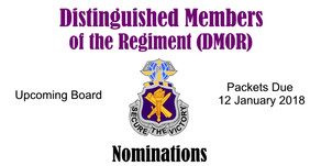 Nominations for Distinguished Members of the Regiment Due