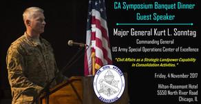 "MG Kurt L. Sonntag, Guest Speaker, ""Civil Affairs as a Strategic Landpower Capability in Consol"