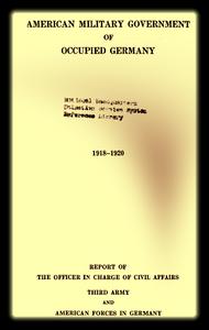 1918 Hunt Report