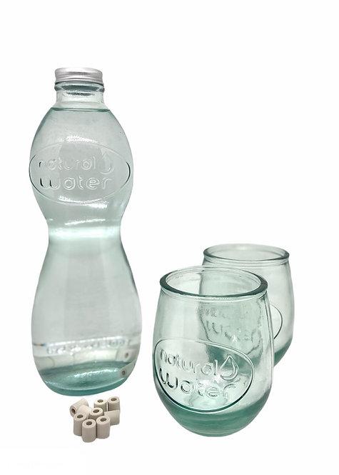 Set Carafe Natural Water + 2 verres + 10 EM Perles Céramiques