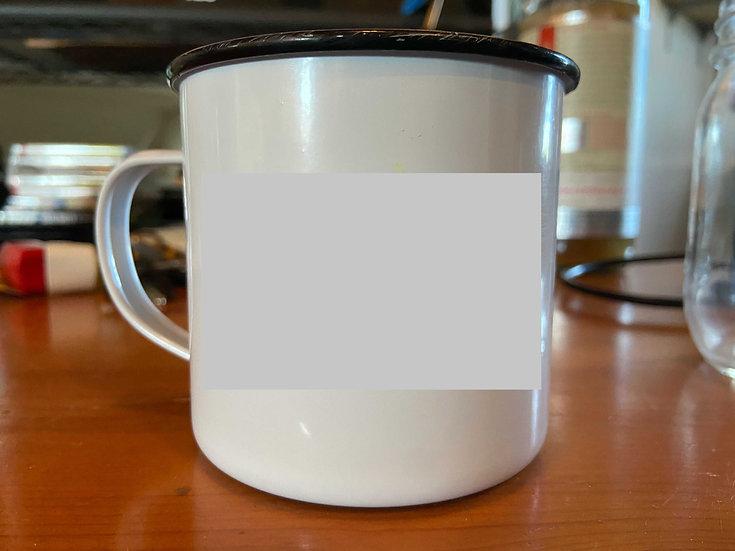 Hand Painted ~> Custom Enamel Camping Mug