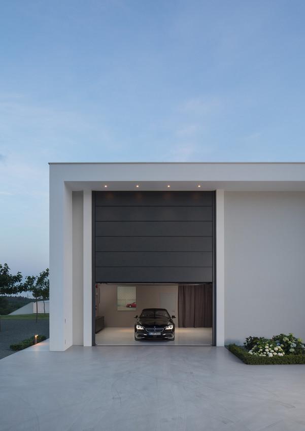 Modern house garage bmw