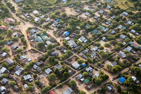 Bagan village from air