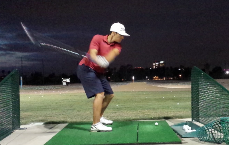 Destructive golf swing move