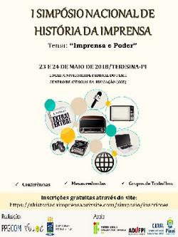 I Simpósio Nacional de História da I