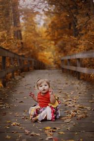 toddler on bridge