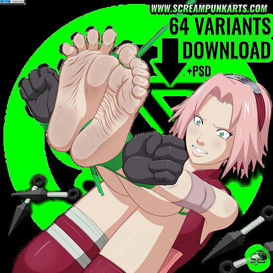 +DiD / Feet+ Sakura Haruno