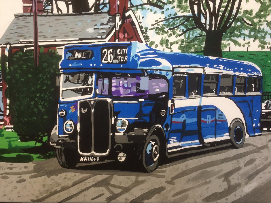 The Blue Cobham bus