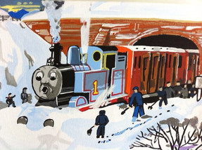 Thomas stuck in the snow