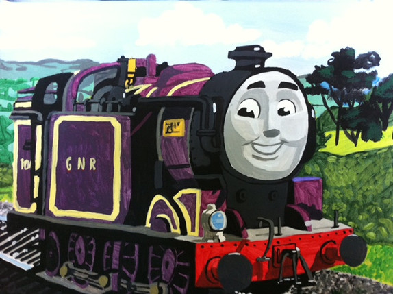 Ryan the purple tank engine