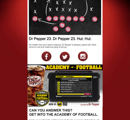 Dr Pepper Promotion for Buzztime