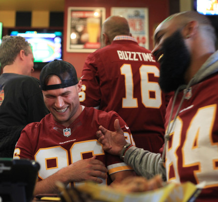Redskins Players at Buzztime Launch