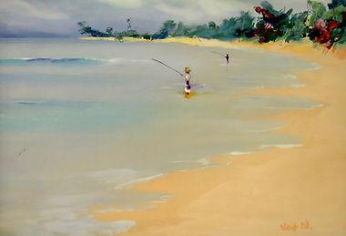 Lief Nilsson, Bali Beach, 1990s, acrylic